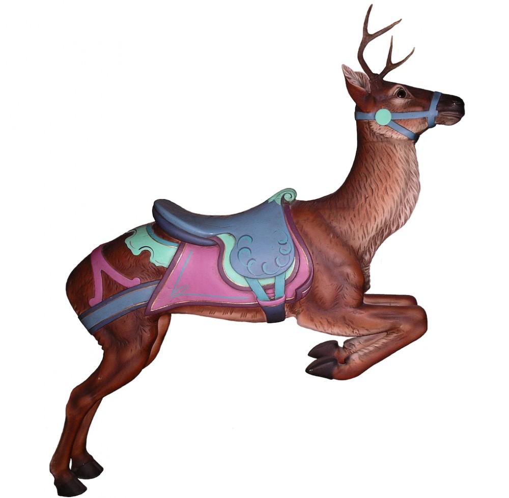 CB402 - Standing Deer Carousel Animal