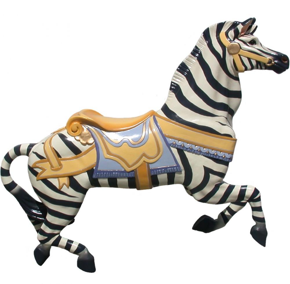 CB709 - Jumping Zebra Carousel Animal